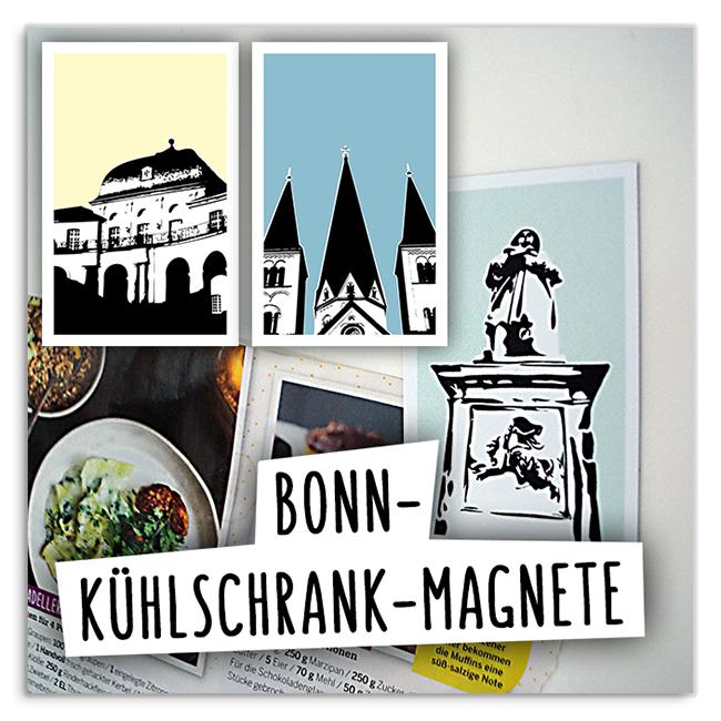 Bonn-Kühlschrankmagnete 3 Motive